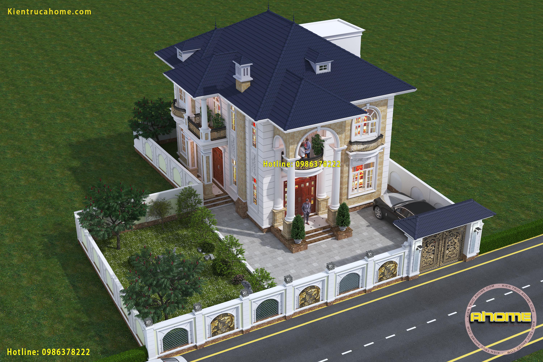 Mẫu biệt thự 2 tầng Tân cổ điển đẹp-5