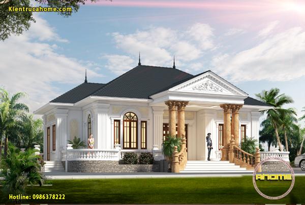 Mẫu biệt thự nhà vườn 1 tầng AH20002(CĐT:Ông Toản- Tuyên Quang)