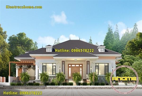 Mẫu biệt thự vườn 1 tầng mái thái AH20003(CĐT: Anh Bắc- Nghệ An)
