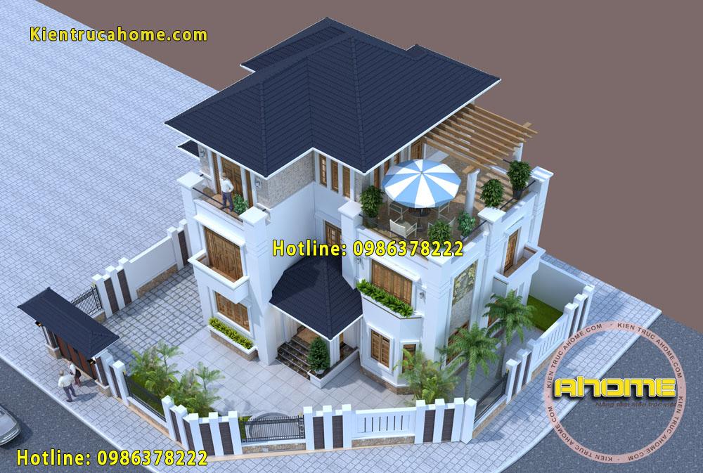 Mẫu biệt thự 3 tầng Hiện đại nhà vườn AH20052(CĐT: Ông Quyết- Lào Cai)