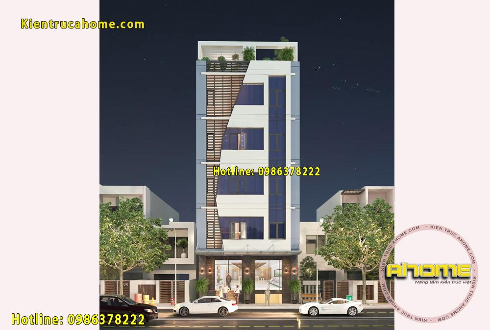 Mẫu chung cư mini kết hợp văn phòng cho thuê 7 tầng AH20017(CĐT: Ông Hoàng- TPHCM)