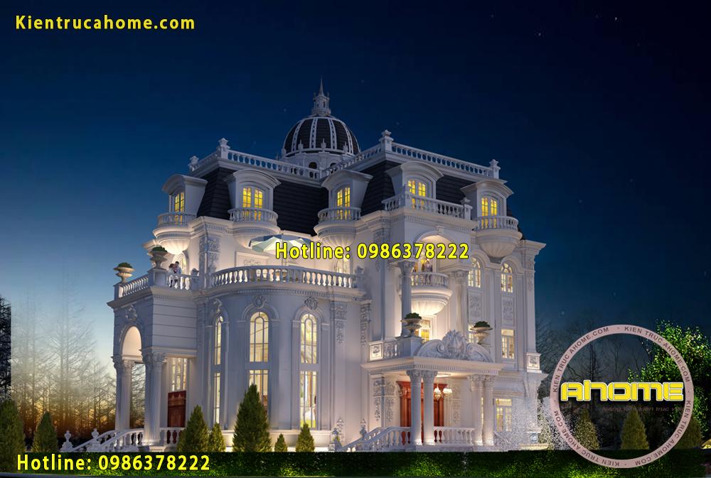 Mẫu dinh thự cổ điển đẹp AH20054(CĐT: Ông Du- Đồng Nai)