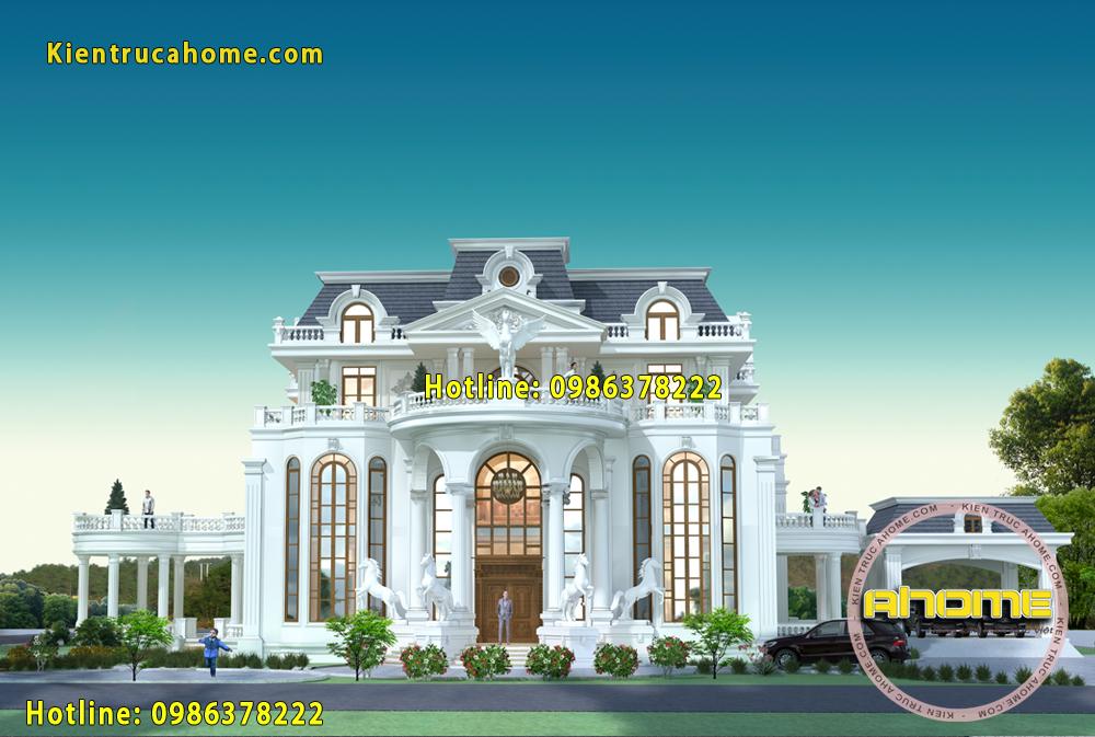 Mẫu dinh thự cổ điển sang trọng AH20053(CĐT: Bà Lụa- TPHCM)
