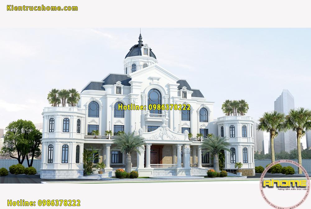 Mẫu khách sạn 4 tầng Tân cổ điển AH20033(CĐT: Ông Minh- Quảng Ninh)