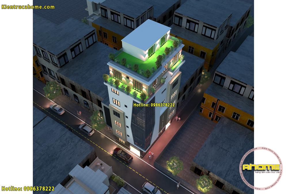 Mẫu khách sạn mini 7 tầng đẹp tại Hà Nội AH20020(CĐT: Ông Thành- HN)