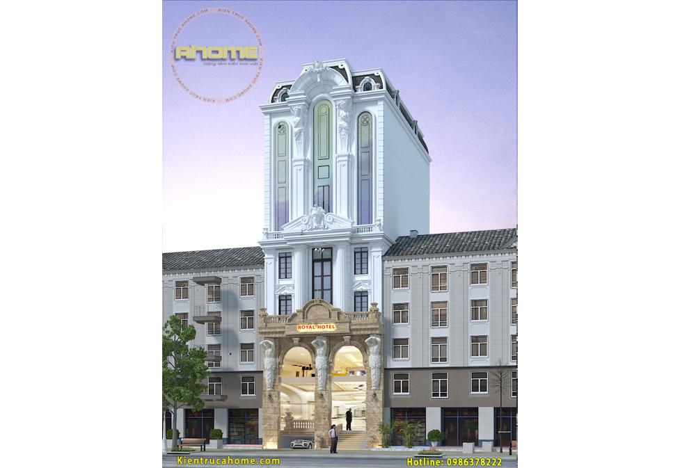 Mẫu khách sạn mini 8 tầng tại Đà Nẵng AH20025(CĐT: Ông Nam- Đà Nẵng)