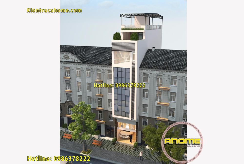 Mẫu nhà nghỉ 7 tầng đẹp tại Hà Nội AH20019(CĐT: Ông Hòa- Hà Nội)