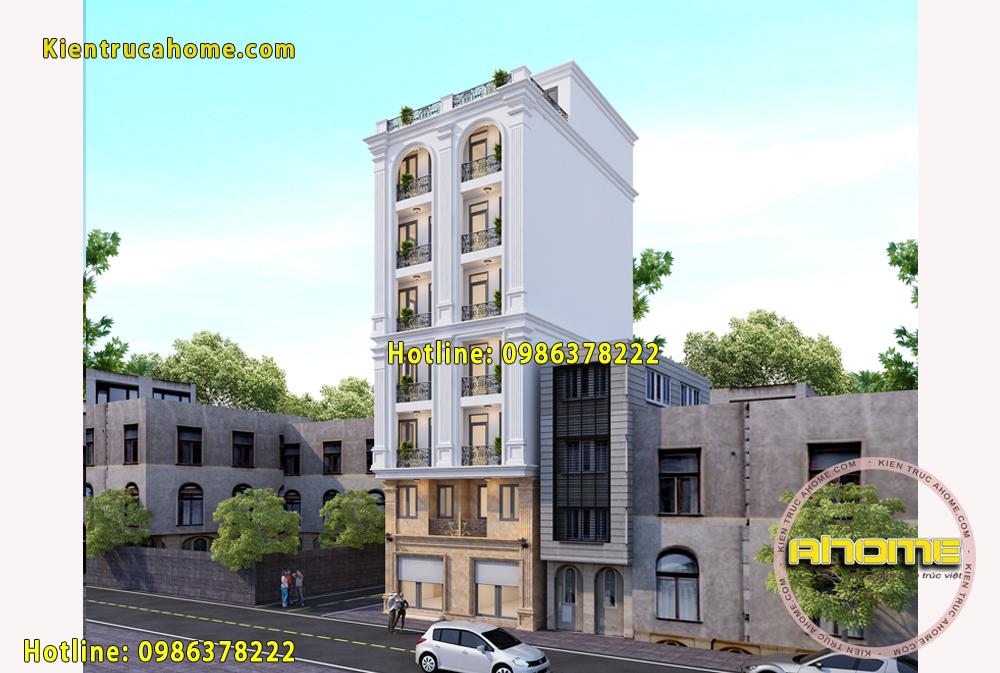 Mẫu nhà ở kết hợp kinh doanh 7 tầng tại Hà Nội AH20021(CĐT: Ông Thạch- HN)