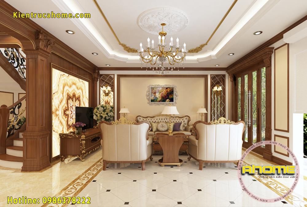 Mẫu nội thất biệt thự cổ điển đẹp NT20016(CĐT: Ông Chung- Bắc Ninh)