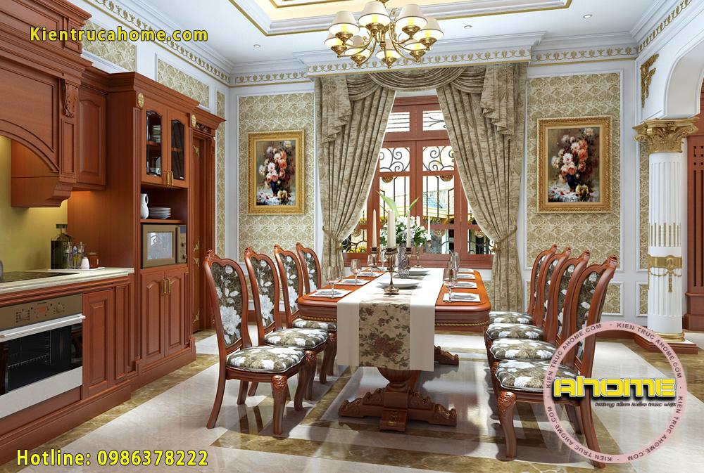 Mẫu nội thất biệt thự cổ điển đẹp NT20011(CĐT: Bà Hằng- Bình Dương)