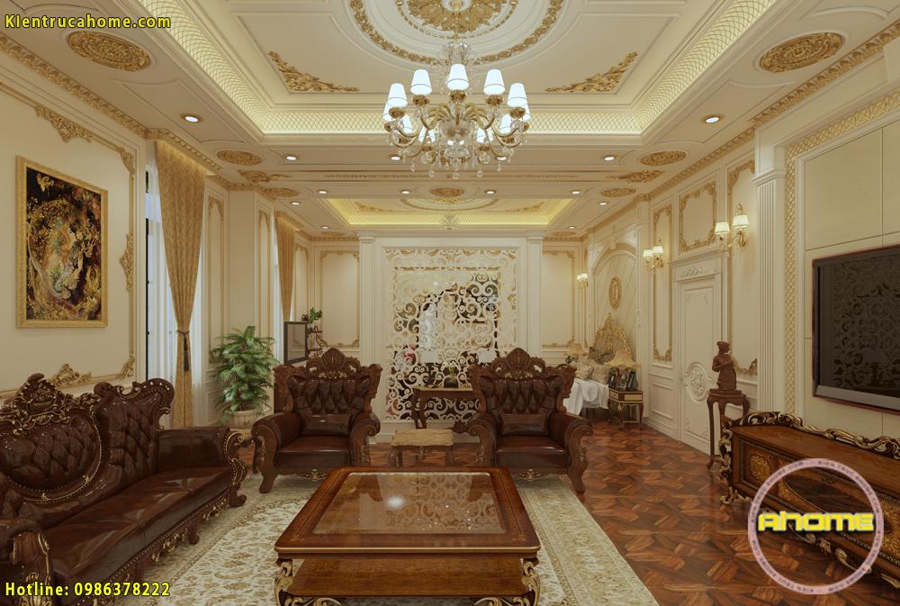 Mẫu nội thất biệt thự cổ điển Hoàng gia NT20005(CĐT: Ông Dũng- HN)