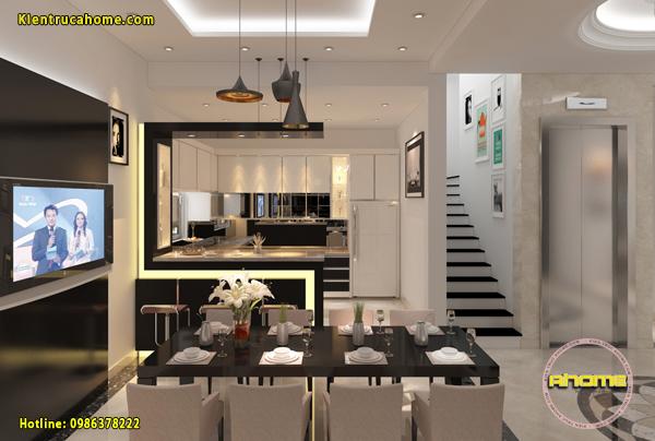 Mẫu nội thất phòng Bếp ăn Hiện đại