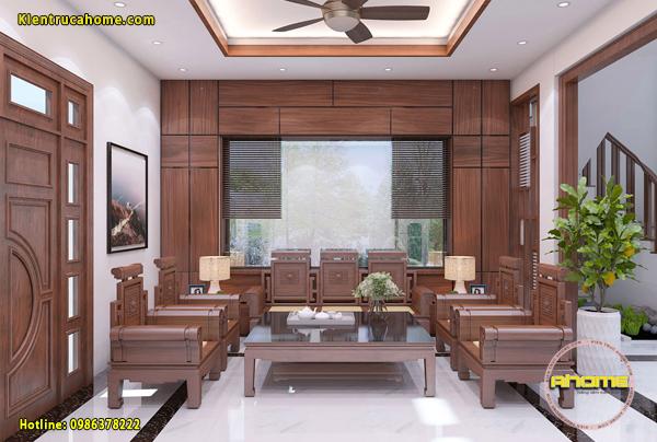 Mẫu nội thất Hiện đại có sử dụng gỗ tự nhiên NT20021(CĐT: Ông Long- Hà Tĩnh)