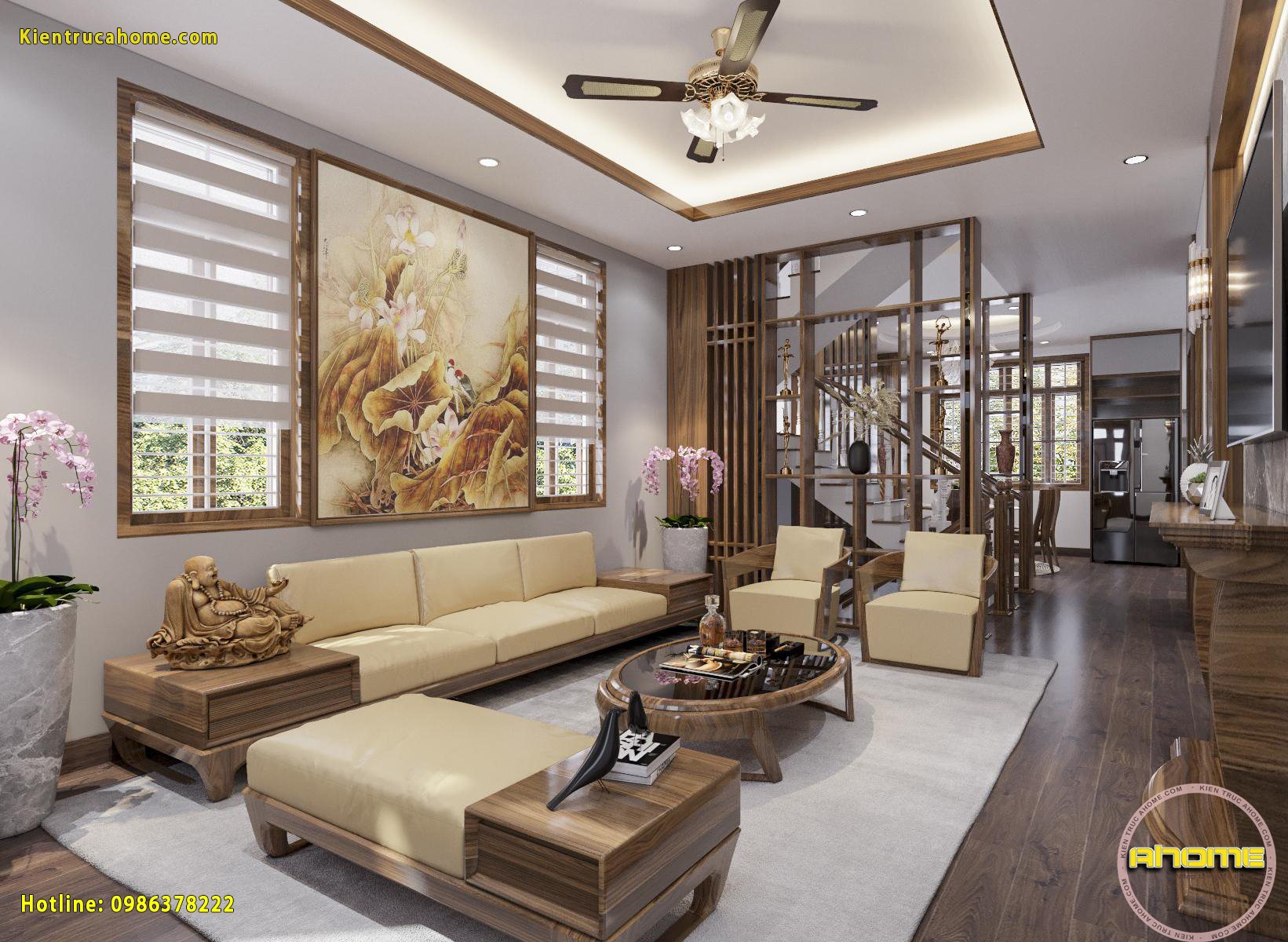 Mẫu nội thất Hiện đại gỗ Óc chó tuyệt đẹp NT20002(CĐT: Ông Lượng- HN)