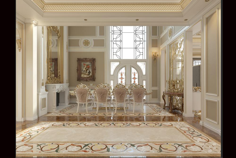 Mẫu thiết kế nội thất biệt thự Tân cổ điển đẹp NT20025(CĐT: Ông Nam- Vũng Tàu)