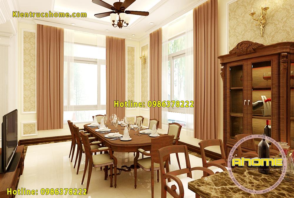 Mẫu thiết kế nội thất Tân cổ điển đẹp NT20019(CĐT: Ông Quân- HN)