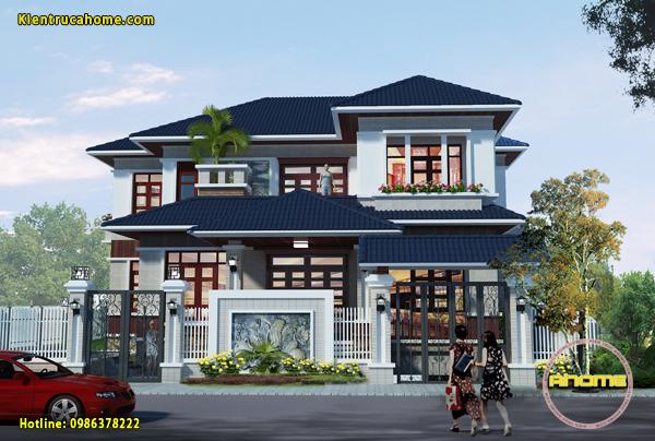 Thiết kế biệt thự Hiện đại 2 tầng AH20032(CĐT: Ông Thành- Yên Bái)
