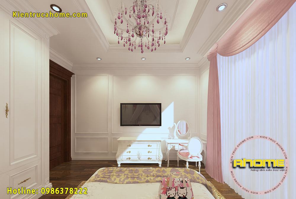 Thiết kế nội thất biệt thự Tân cổ điển NT20020(CĐT: Ông Quyết- Lào Cai)