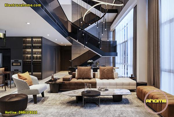 Thiết kế nội thất Penhouse phong cách Hiện đại NT20028(CĐT: Ms Hằng- TPHCM)