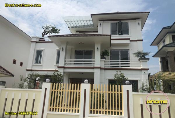 Thiết kế và thi công biệt thự 3 tầng Hiện đại tại Lào Cai(CĐT: Ông Yên- Lào Cai)