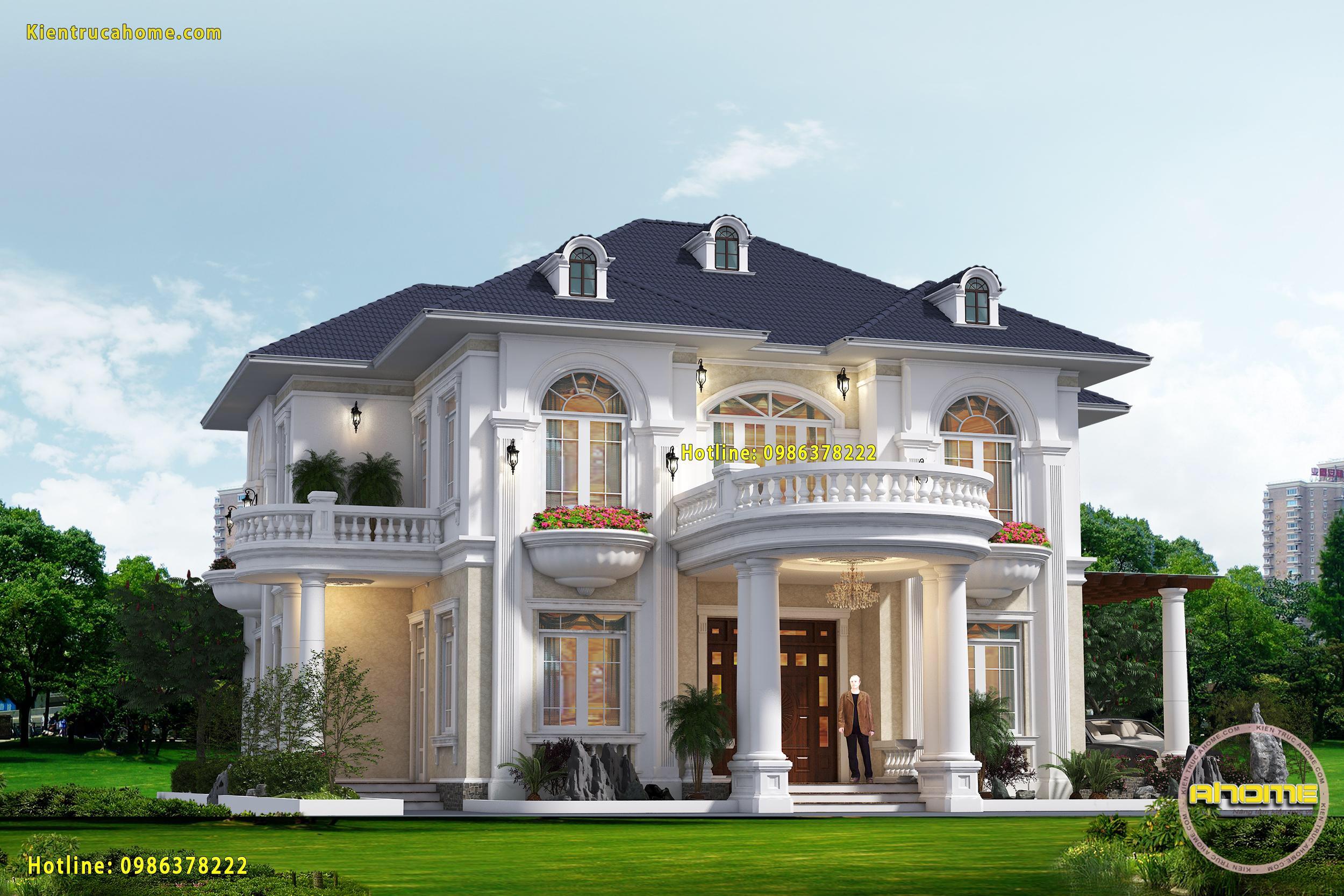 5 Mẫu thiết kế nhà biệt thự đẹp 2 tầng được yêu thích nhất