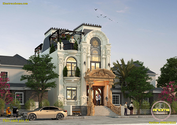10 Mẫu và bản vẽ thiết kế biệt thự 3 tầng hoàn hảo