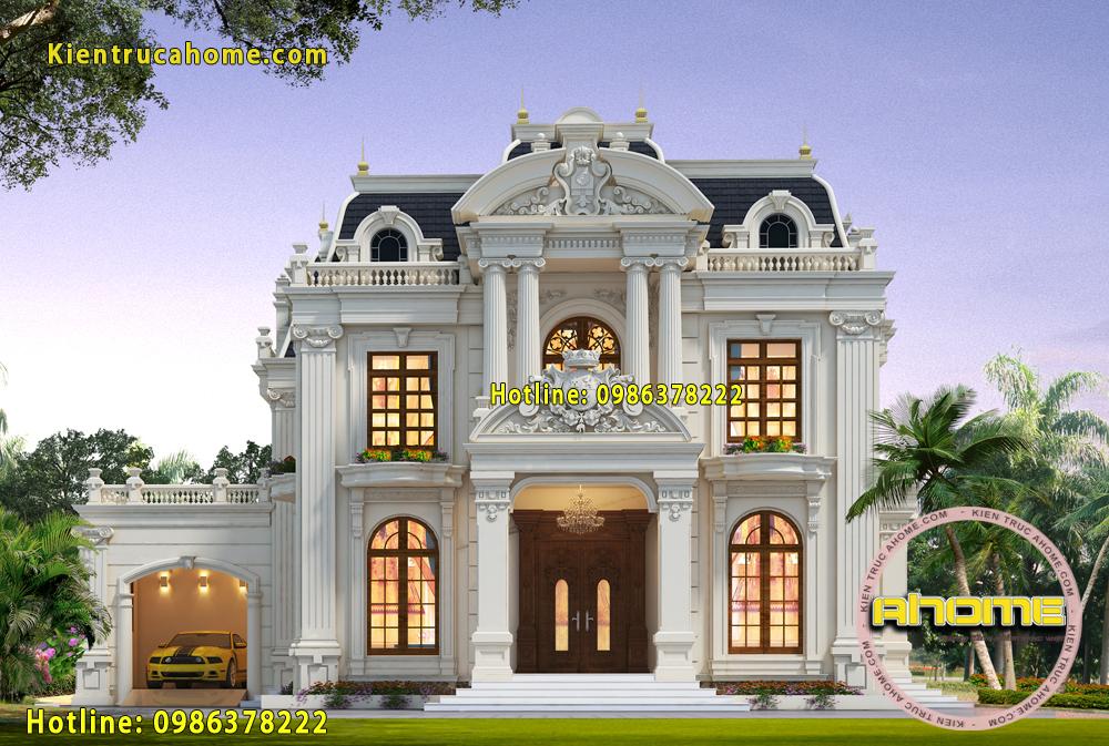 Mẫu biệt thự 2 tầng cổ điển AH20080(CĐT: Bà Thúy- Phú Thọ)