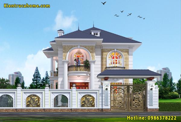 5 mẫu thiết kế nhà biệt thự đẹp 2 tầng được yêu thích hiện nay