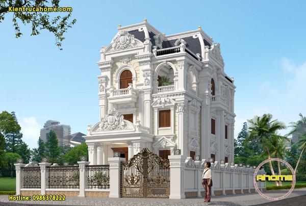 10 mẫu thiết kế biệt thự 4 tầng đẹp lung linh