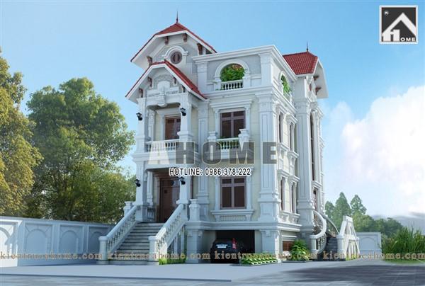 10 mẫu thiết kế biệt thự cổ điển 3 tầng đẹp và sang trọng nhất Việt Nam