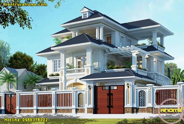10 mẫu thiết kế biệt thự tân cổ điển 3 tầng đẹp và sang trọng