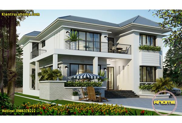 Mẫu thiết kế biệt thự sân vườn đẹp 1 tầng và 2 tầng