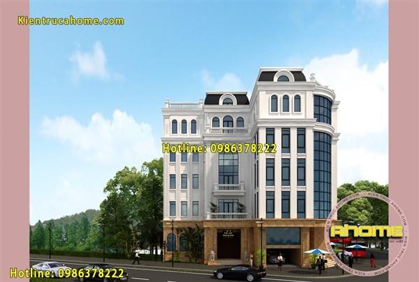 Mẫu khách sạn Mini 5 tầng Tân cổ điển AH20089(CĐT:  Ông Đức- Thanh Hóa)