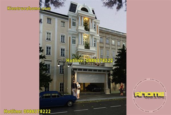 Mẫu nhà nghỉ 5 tầng AH20088(CĐT: Ông Hải- Hoài Đức)