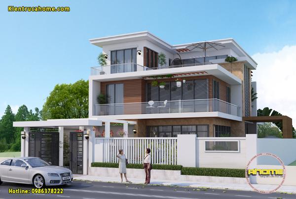 10 mẫu thiết kế biệt thự 2,5 tầng đẹp cuốn hút người xem.