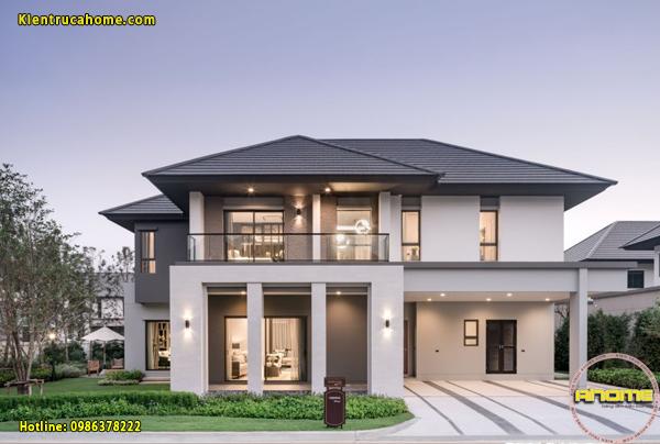Mẫu thiết kế nhà biệt thự kiểu Mỹ được nhiều người yêu thích