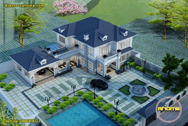 Mẫu thiết kế biệt thự sân vườn đẹp 1 tầng và 2 tầng rất đáng tham khảo