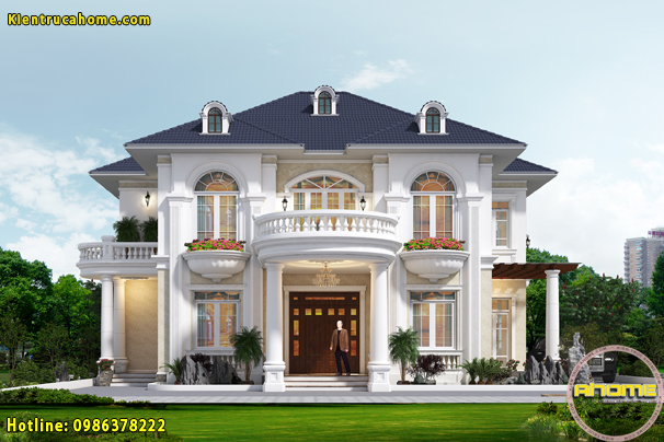 100 mẫu thiết kế nhà biệt thự 2 tầng đẹp hút hồn hợp phong thủy