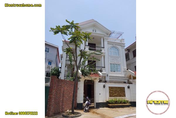 Thi công biệt thự 3 tầng Tân cổ điển tại Đồng Nai TC121520(CĐT: Bà Doanh- Đồng Nai)