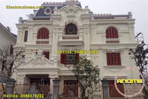 Thi công biệt thự kiểu Pháp tại Hà Nội(CĐT: Ông Đạt- HN)