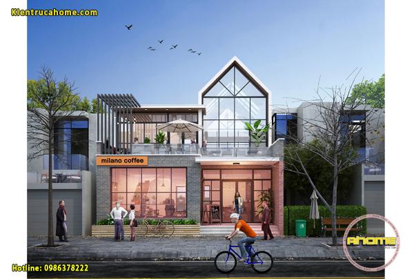 Mẫu thiết kế quán Cafe Hiện đại, sang trọng AH20087(CĐT: Ông Nam- Hải Dương)