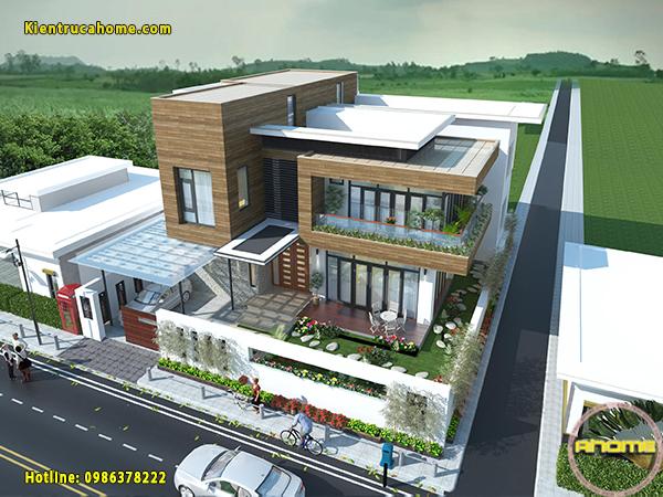 Mẫu biệt thự hiện đại 3 tầng ấn tượng AH20110(CĐT: Ông Duy- Phan Thiết)