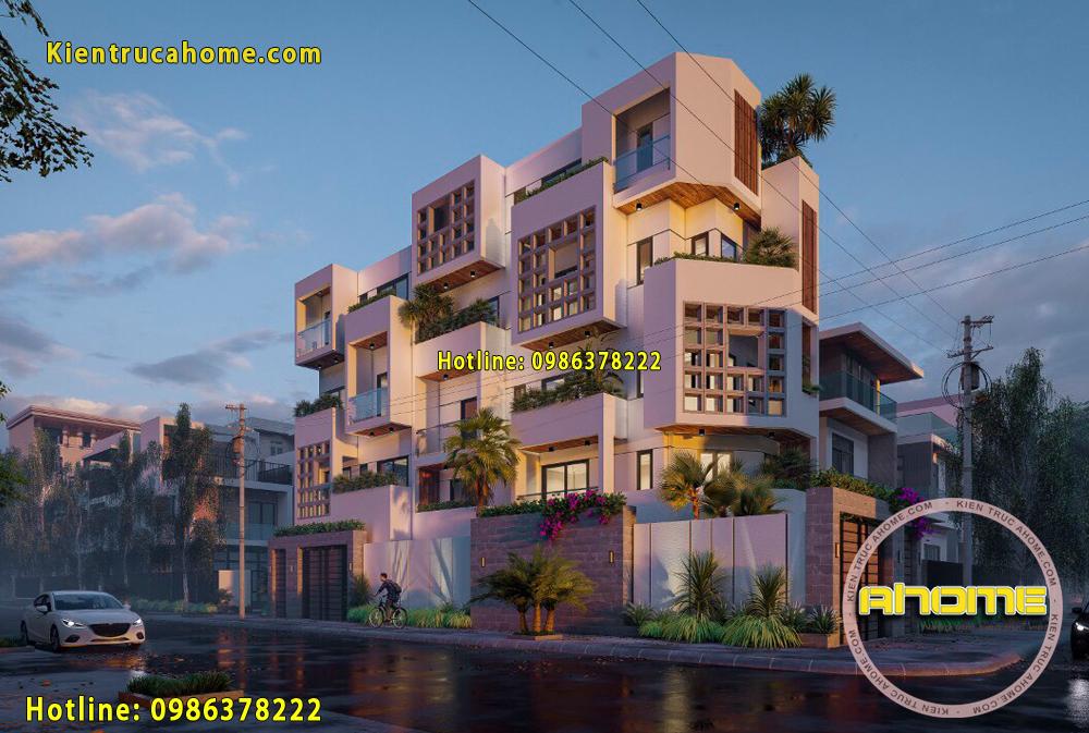 Mẫu biệt thự 4 tầng tại Tân Phú AH20100(CĐT: Ông Ninh- TPHCM)