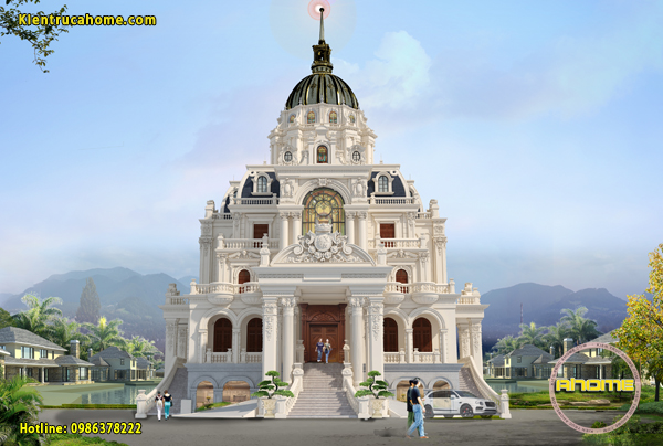 Top 10 mẫu thiết kế biệt thự lâu đài cổ điển sang trọng và đẹp nhất mọi thời đại