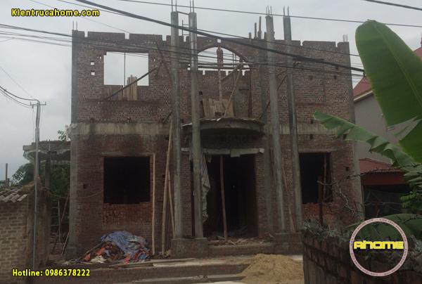 Thiết kế và thi công biệt thự 2 tầng cổ điển tại Hải Dương TC20033(CĐT: Ông Thắng- Hải Dương)