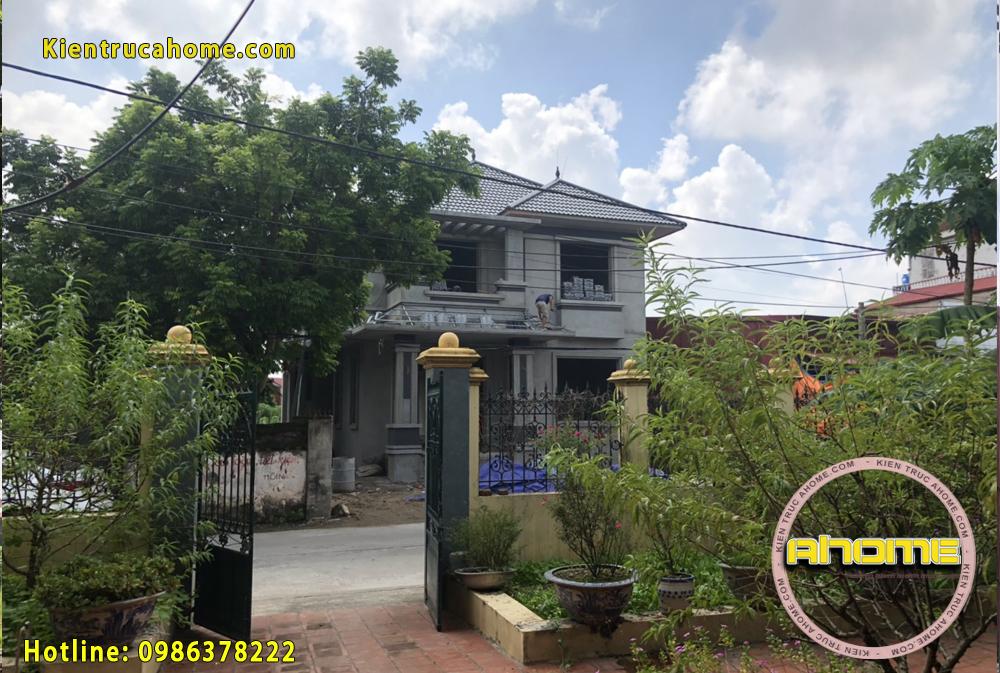 Thi công biệt thự 2 tầng tại Bắc Ninh TC20031(CĐT: Ông Hanh- Bắc Ninh)