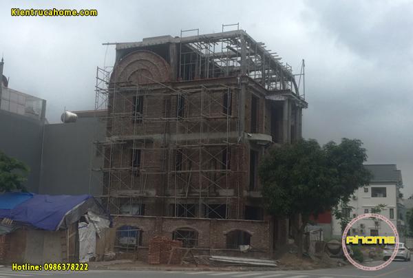 Thi công biệt thự 3 tầng cổ điển tại Hải Dương TC20035(CĐT: Ông Huy- HD)