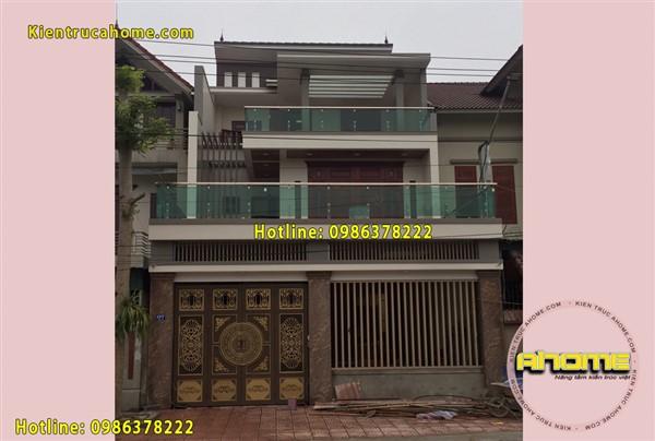 Thi công biệt thự 3 tầng Hiện đại AH20040(CĐT: Ông Long- Hà Tĩnh)
