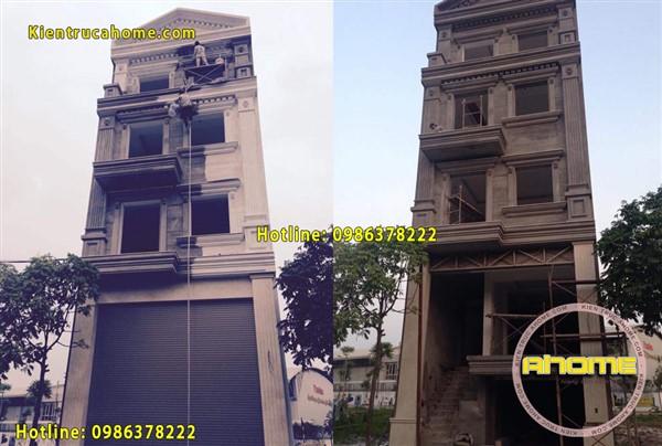 Thi công nhà ống lệch tầng AH20036(CĐT: Ông Trường- Long Biên)