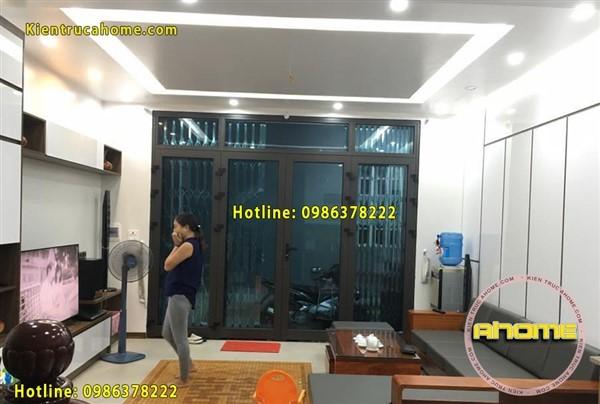 Thi công nội thất biệt thự tại Hà Nội TC20030( CĐT: Ông Huy- Long Biên)
